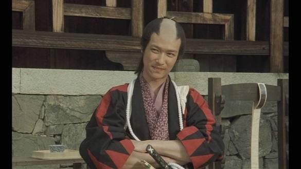 O ator Masato Sakai como Souji Okita: sanguinário.