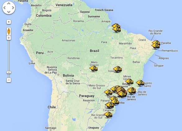 Academias certificadas no Brasil.
