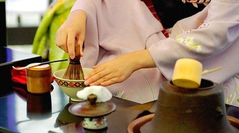 Etiquetas complexas para cerimônia do chá.